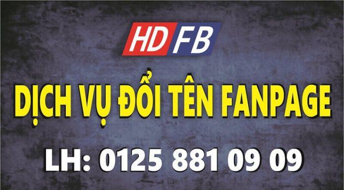 dịch vụ đổi tên fanpage