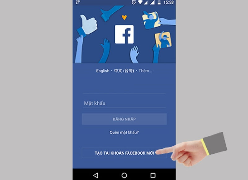 cách đăng ký facebook qua ứng dụng Facebook