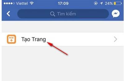 cách tạo fanpage facebook trên điện thoại
