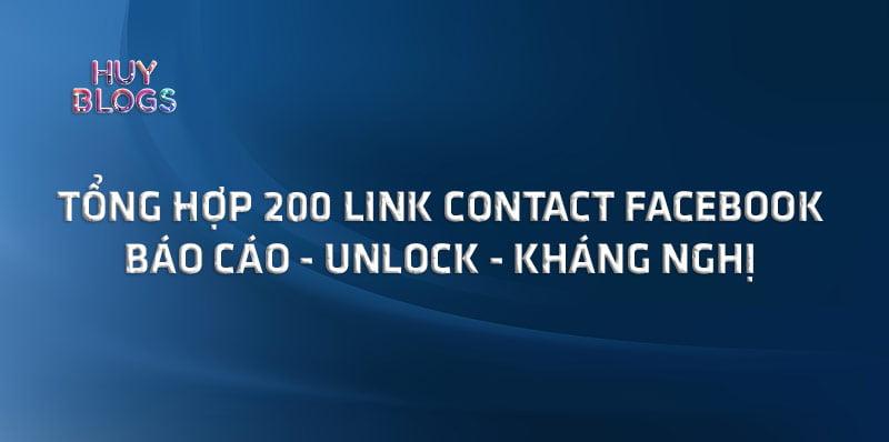 Tổng hợp 200 link contact facebook