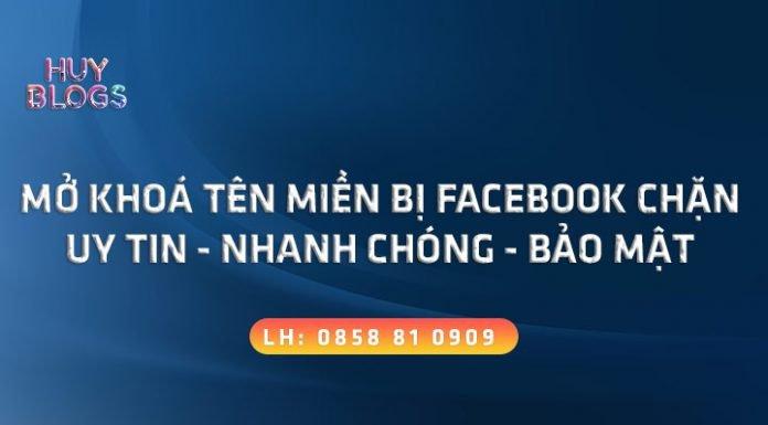 Dịch vụ mở khoá tên miền bị facebook chặn