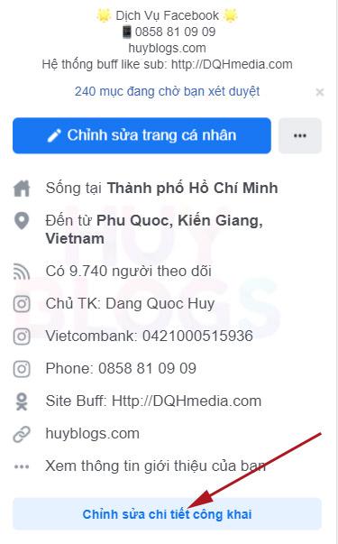cách hiển thị số người theo dõi trên facebook bằng điện thoại