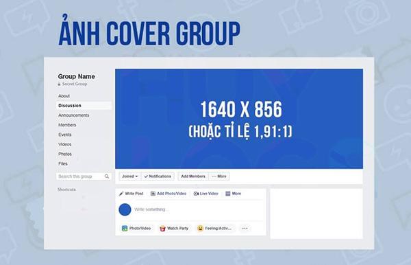 Kích thước ảnh bìa nhóm facebook, kích thước cover facebook, cover facebook size, facebook cover size, size cover facebook