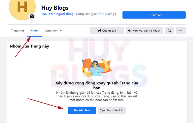 Cách liên kết fanpage với group Facebook