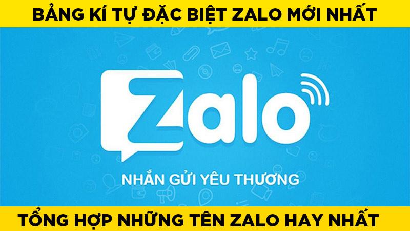 Tổng hợp những kí tự đặc biệt Zalo được sử dụng nhiều nhất